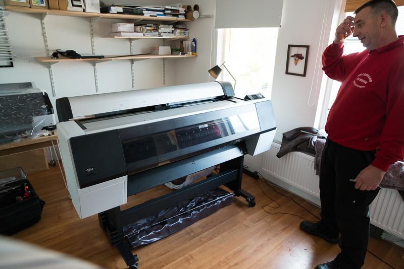 Installatie Epson 9900 bij Fine Art Printing Services