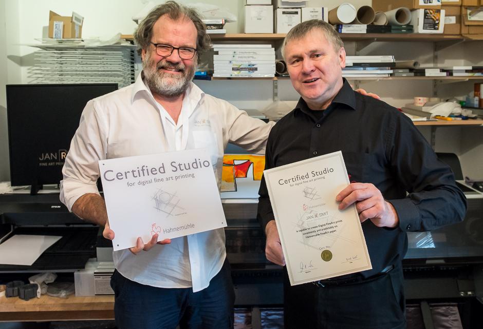 Fine Art Printing Specialist is geaccrediteerd Hahnemühle Certified Print Studio