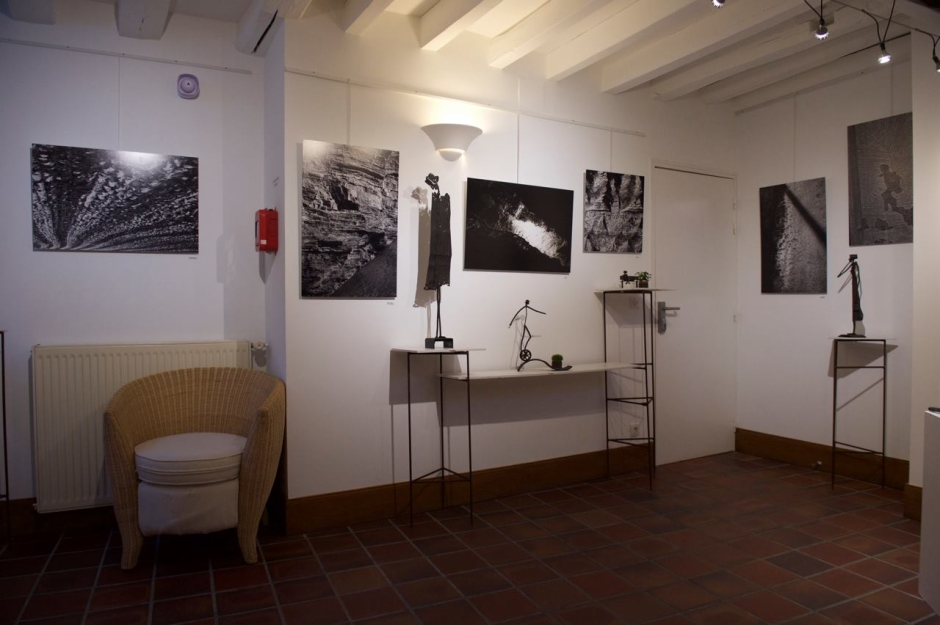 An exposition of the work of photographer Heko Köster and sculptor Christine Lemaire in Coulanges-la-Vineuse in the Burgundy area of France.