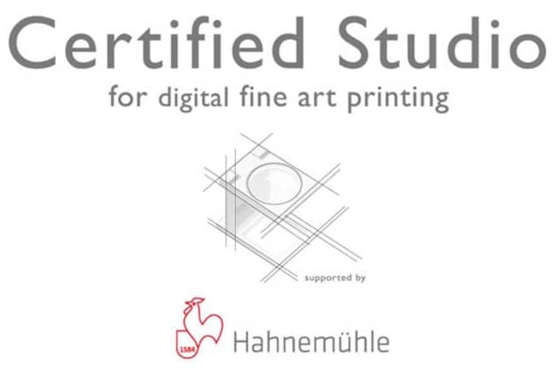 Fine Art Printing Specialist is Hahnemuhle Certified Studio