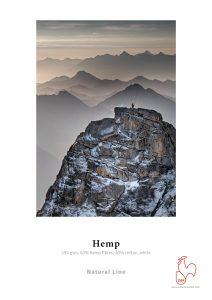 Hahnemuhle Hemp 290gsm, het ruwe en toch delikate oppervlak, het subtiele verfijnde karakter