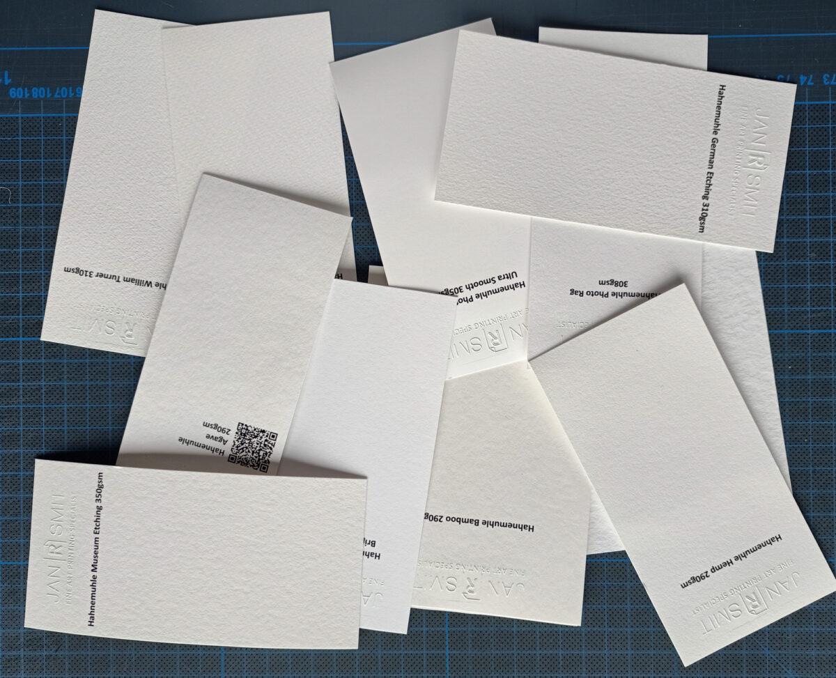 Jan R Smit Fine Art Printing specialist , Papierkeuze cruciaal